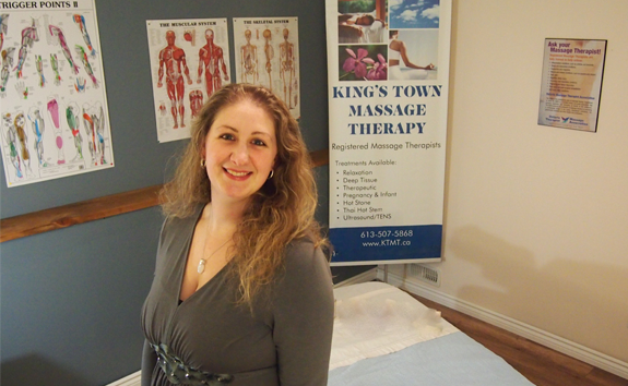 Alana in the King's Town Massage Therapy Massage Room